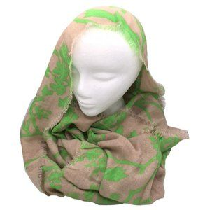 Green Floral Large Scarf
